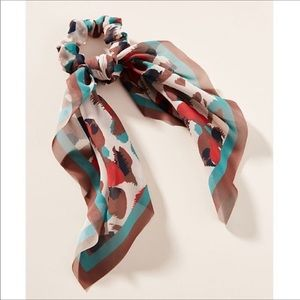 NWOT Anthropologie Camo Scarf Ponytail Hol…